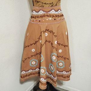 havenbleu•embellished💎• lined•swing skirt•sz.Sm
